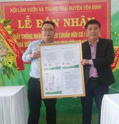 TQC trao chứng nhận đạt tiêu chuẩn hữu cơ Organic tại trang trại Nguyễn Xuân – Thanh Hóa