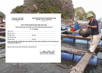 Xin giấy chứng nhận đủ điều kiện sản xuất thức ăn thủy sản