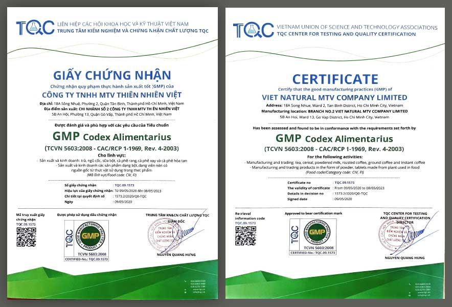 chứng nhận GMP thực phẩm